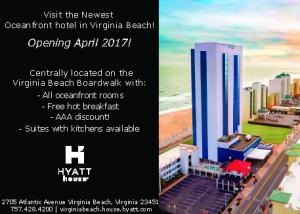 Advertisement for Hyatt House Opening April 2017