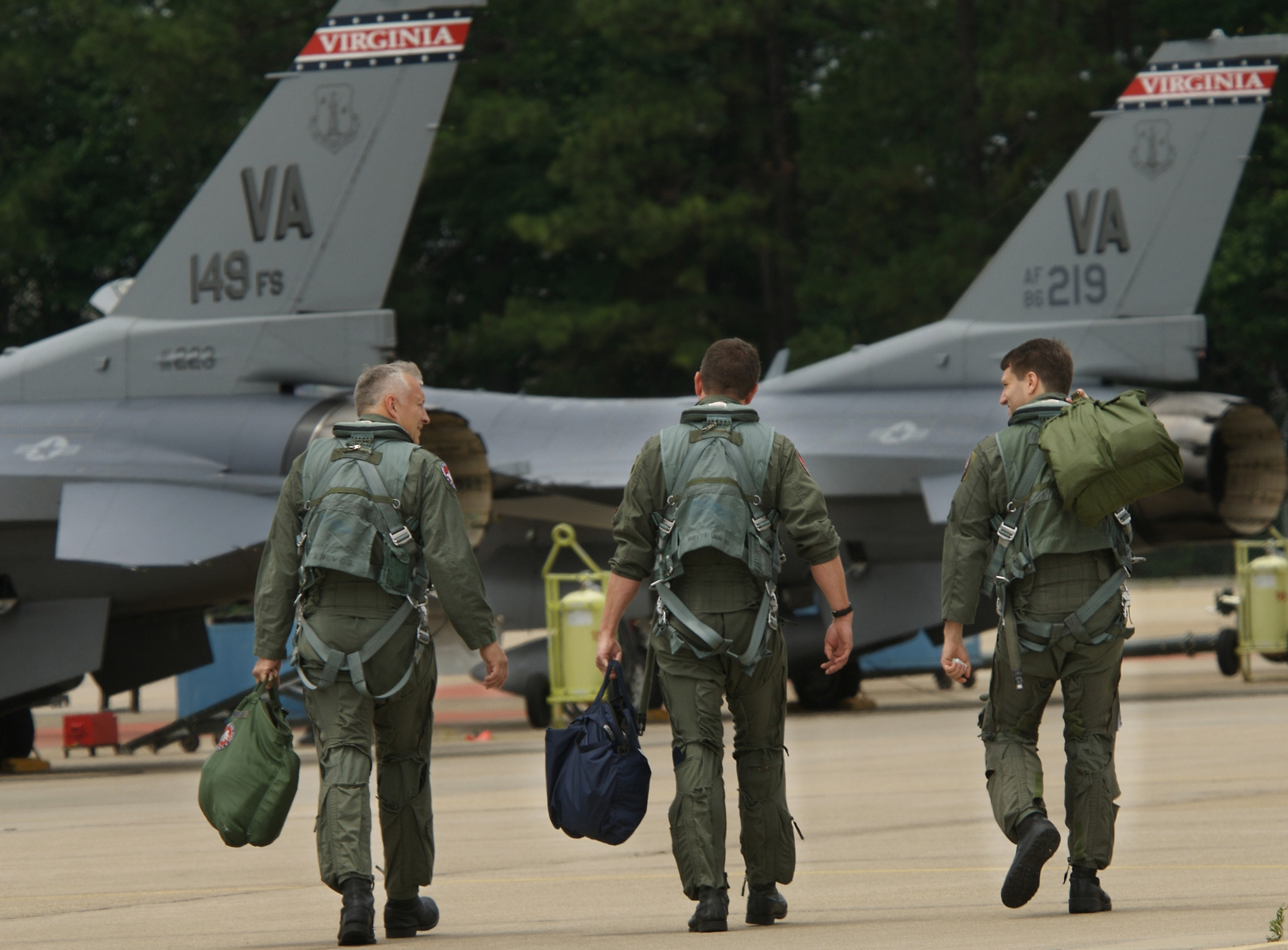 F-16 Fighter Jets from the Virginia Air National Guard