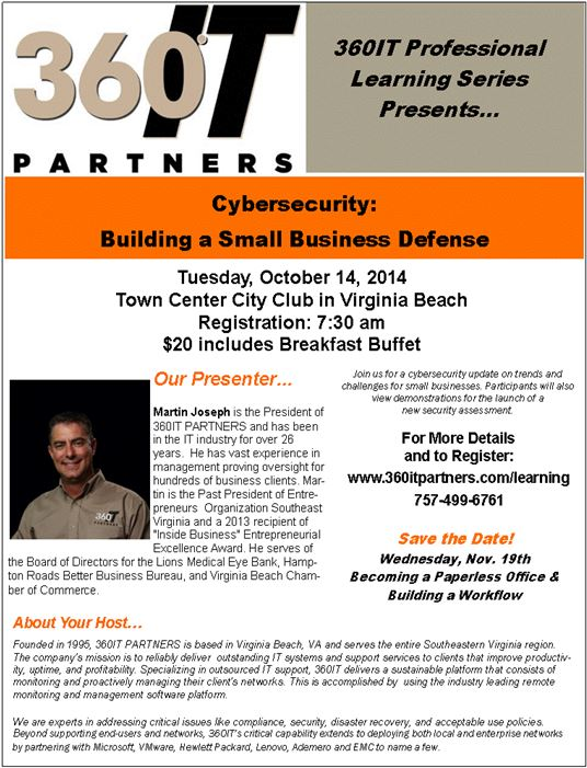 Cybersecurity: Building a Small Business Defense!