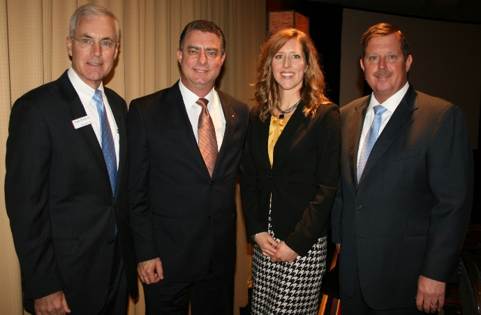 (from left) Charlie Henderson, Bank of America; Martin Joseph; Heather Engel; and Scott Phillpott