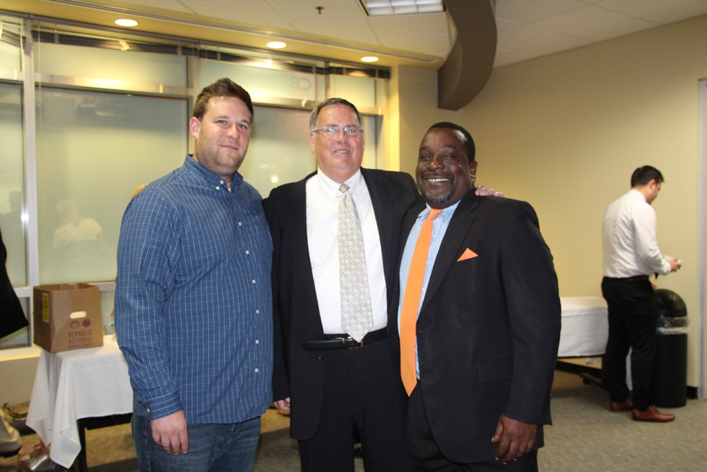 (from left) Zack Miller, Managing Director of Hatch, Jim Carroll, the Chamber's Vice President for Small Business and Executive Director of the Small Business Development Center and Doug Minter, Business Development Manager at the Knoxville Chamber of Commerce