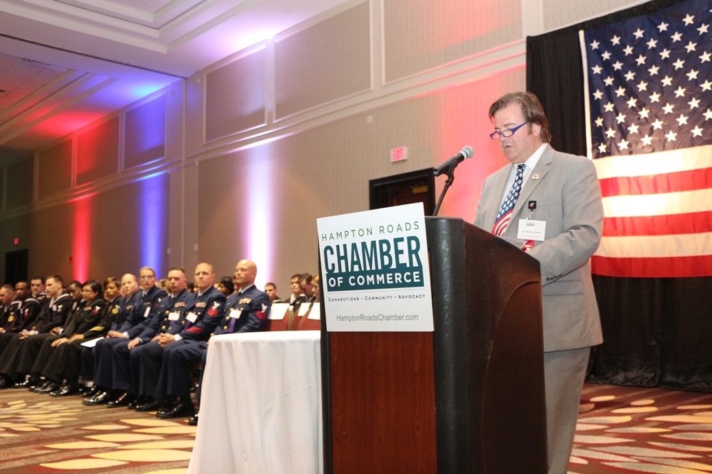 Michael Camden, Chair of theHampton Roads Chamber of Commerce's Armed Forces Committee