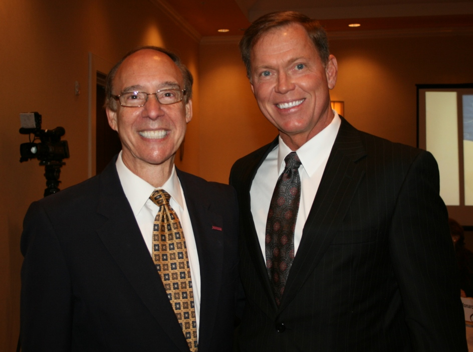 (from left) Chesapeake Mayor Alan Krasnoff and Chamber President & CEO Bryan K. Stephens