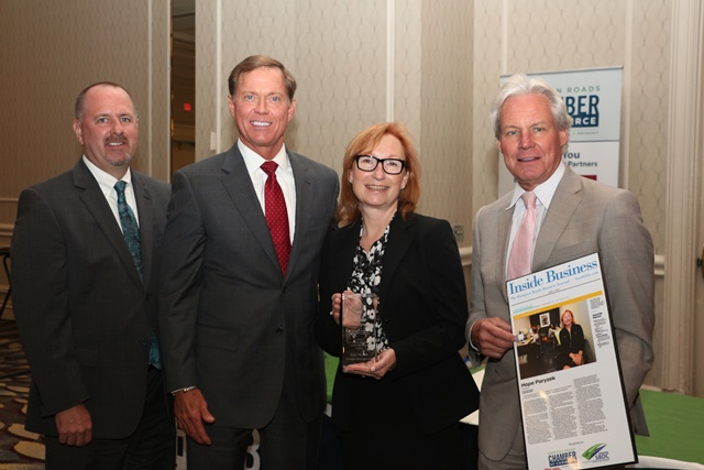 Hope Paryzek, Founder/CEO of Principle Strategies, LLC in Norfolk, received the G&W Leadership Award