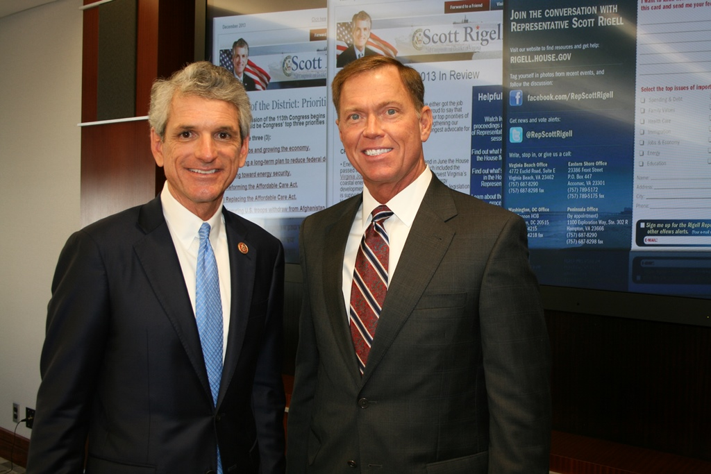 Congressman Scott Rigell and Bryan K. Stephens, Chamber President & CEO