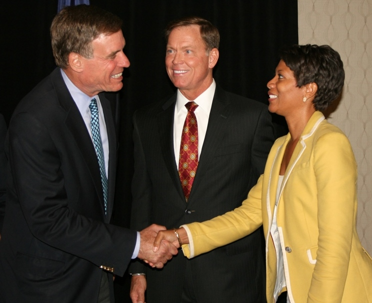 Senator Mark Warner, Bryan K. Stephens and Shepelle Watkins-White