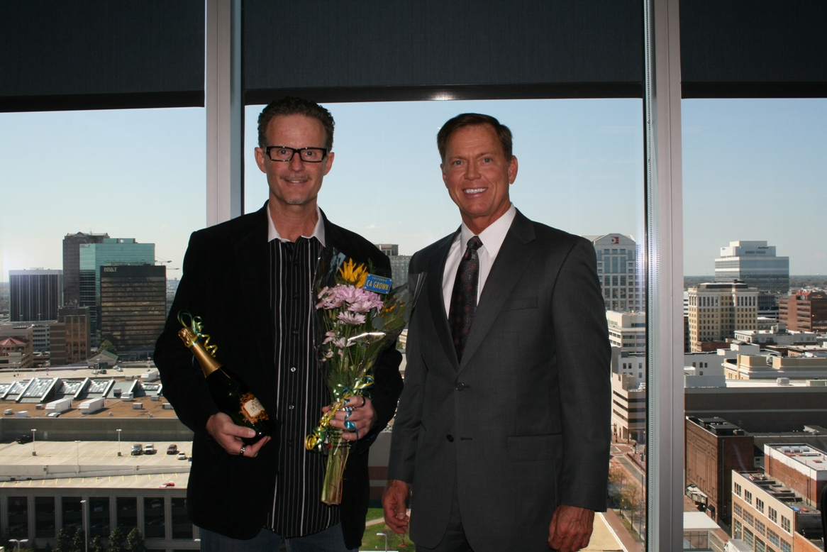 Leadership Award recipient Kevin Neff with the Chamber's President & CEO Bryan K. Stephens