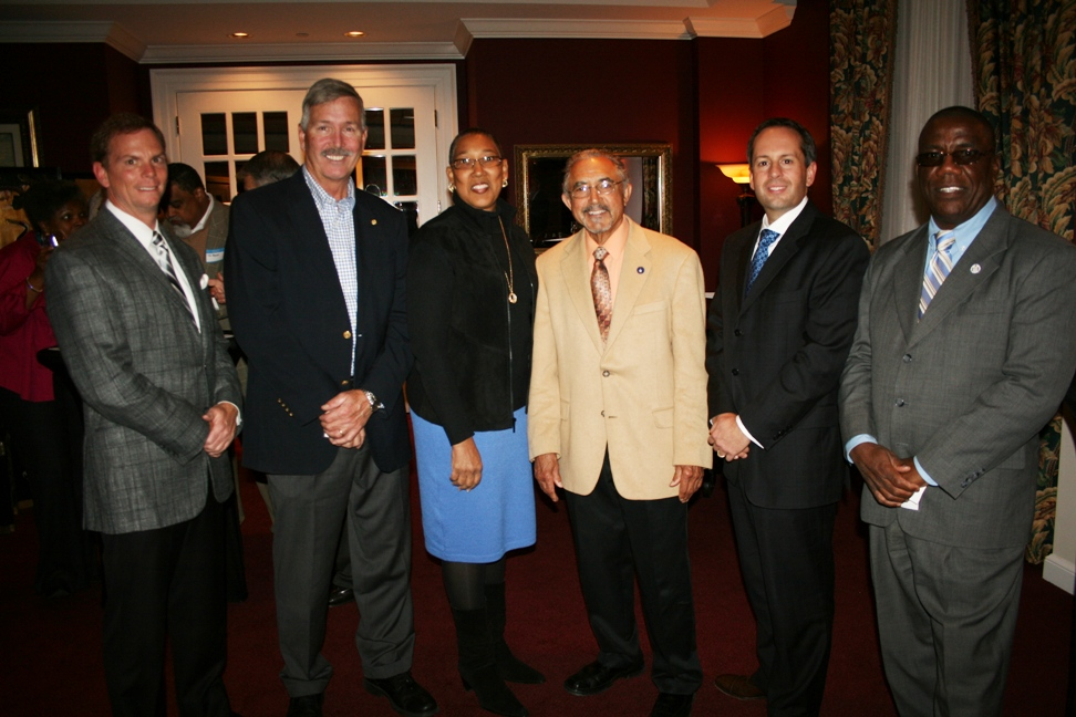 (from left) Delegate Bill DeSteph; Delegate Barry Knight; Delegate Daun Hester; Delegate Algie Howell, Jr.; Delegate Glenn Davis; and Delegate Lionell Spruill