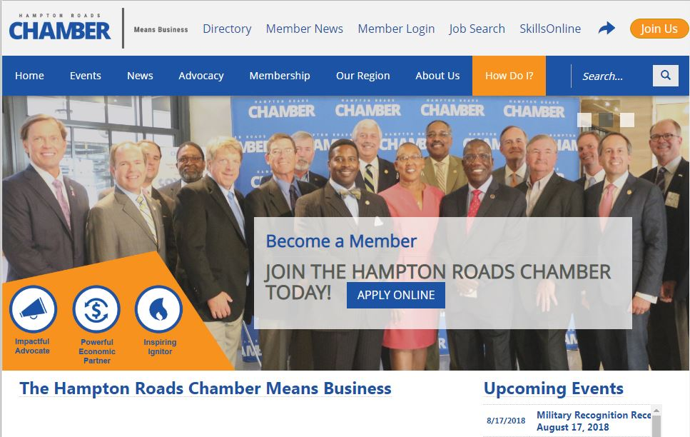 Chamber Website Home Page