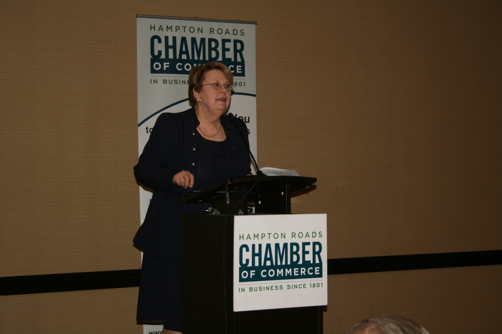 U. Va. President Teresa Sullivan speaks at the Chamber's Professional Women's Leadership Luncheon