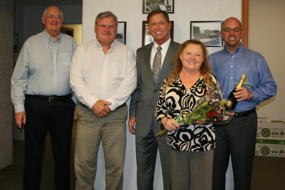 Staff of R D Lambert & Son in Chesapeake with Chamber President & CEO Bryan K. Stephens