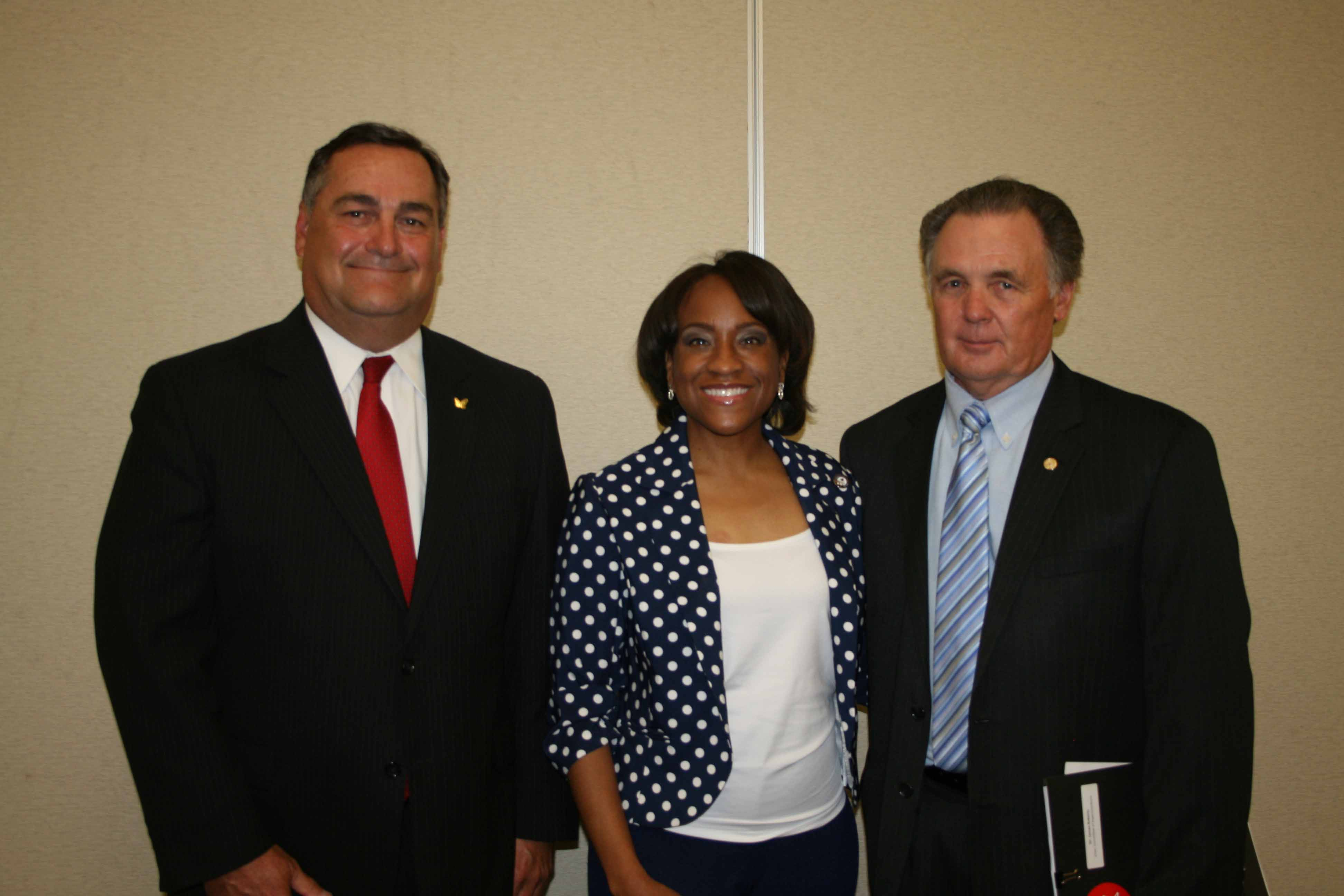 David Ropp, Chair Elect, Chesapeake Division Hampton Roads Chamber of Commerce; Bonita Harris, Dominion Virginia Power; Dr. James T. Roberts, Superintendent, Chesapeake Public Schools