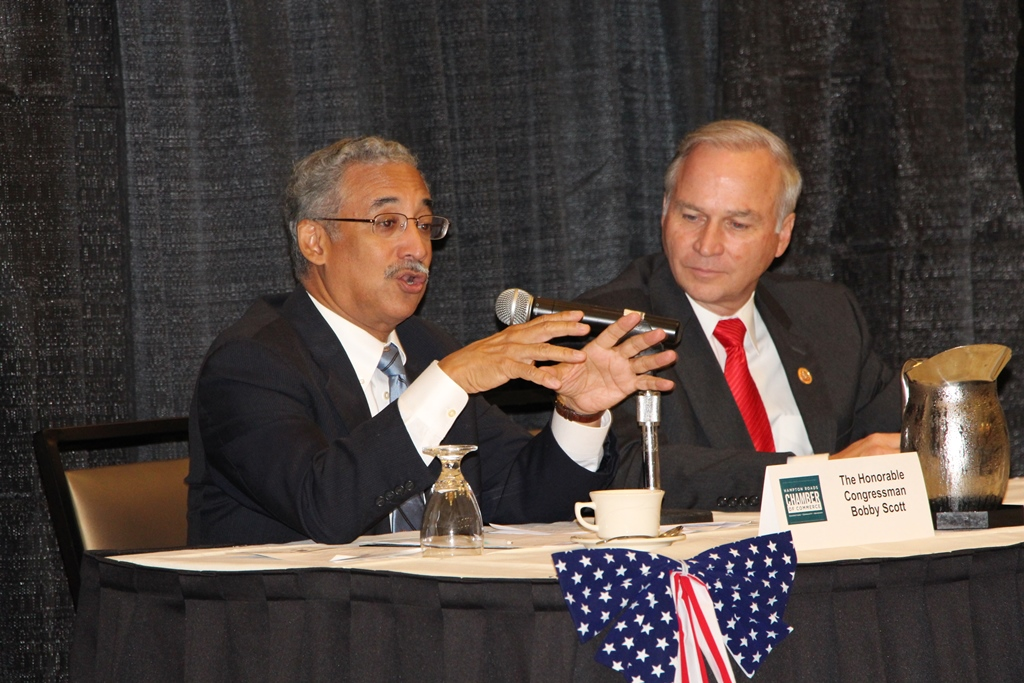 (from left) Congressmen Bobby Scott and Randy Forbes