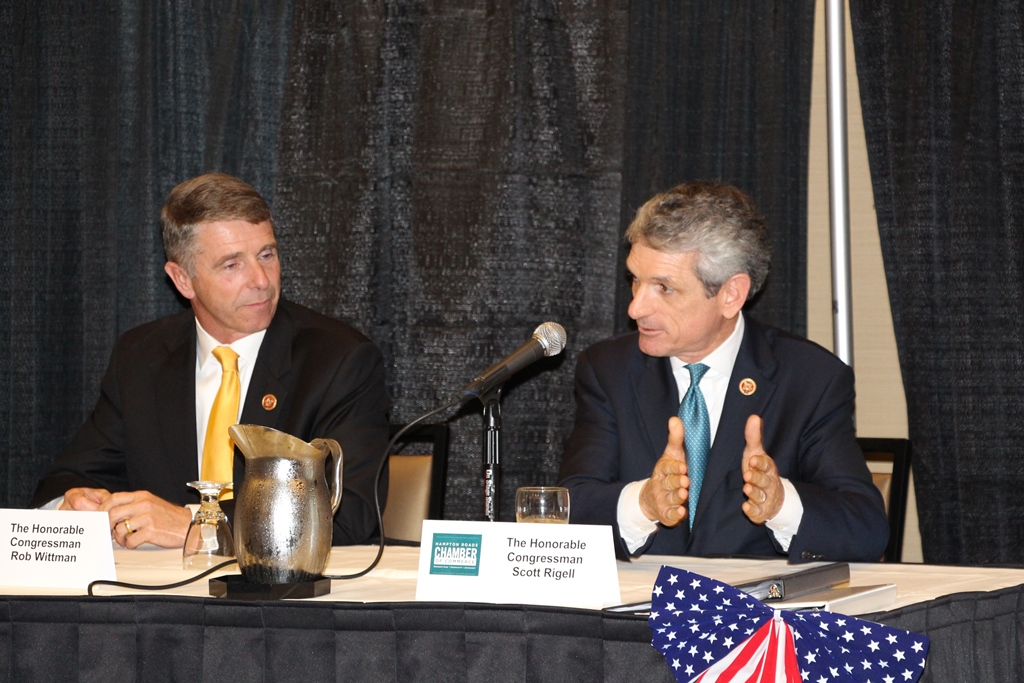 (from left) Congressmen Rob Wittman and Scott Rigell