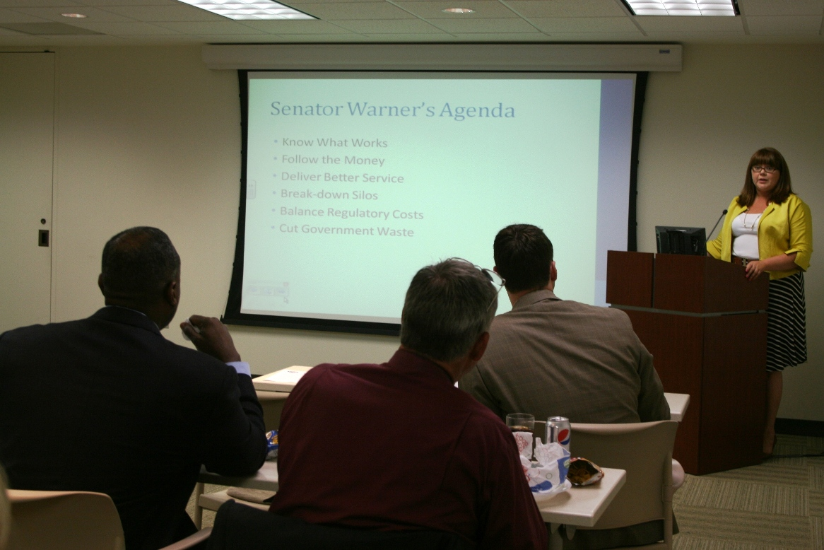 Amy Edwards provides briefing on Senate Budget Committee Government Performance Task Force