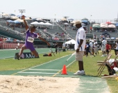 Long jump event at Norfolk State University