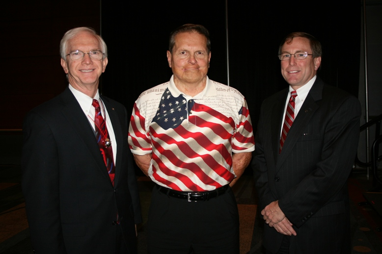 (from left) Ray Pentecost of Clark Nexsen, Architecture & Engineering; Brian Shul; and Michael Kerner of Bon Secours Hampton Roads