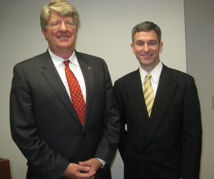 Shep Miller, Chamber's HRBizPAC Chair, and Attorney General Ken Cuccinelli