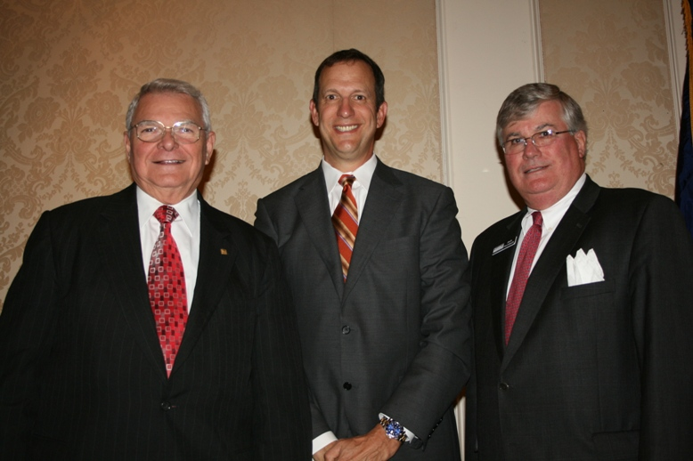 (from left) Wade Powell, Dale Carnegie Training; Kurt Taves, Cherry Bekaert & Holland; and Jack Hornbeck, Hampton Roads Chamber