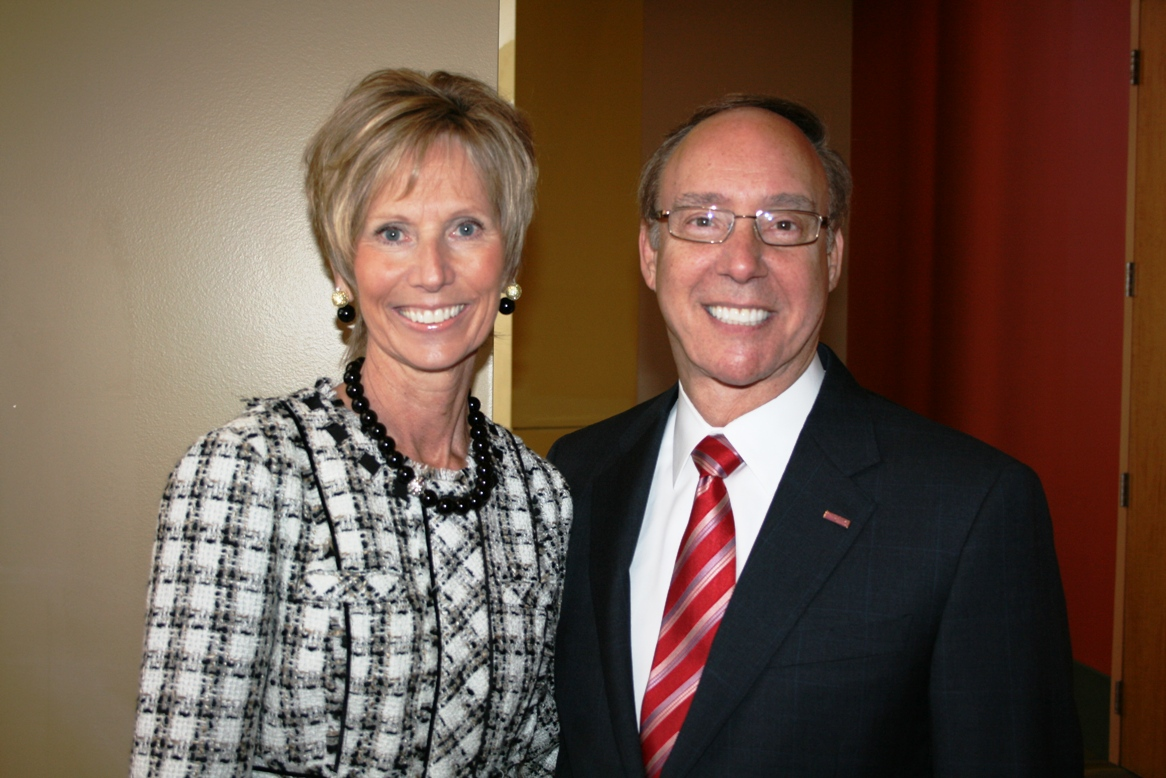 Susan Archer, Chesapeake Chair, Hampton Roads Chamber of Commerce; and Alan Krasnoff, Chesapeake Mayor