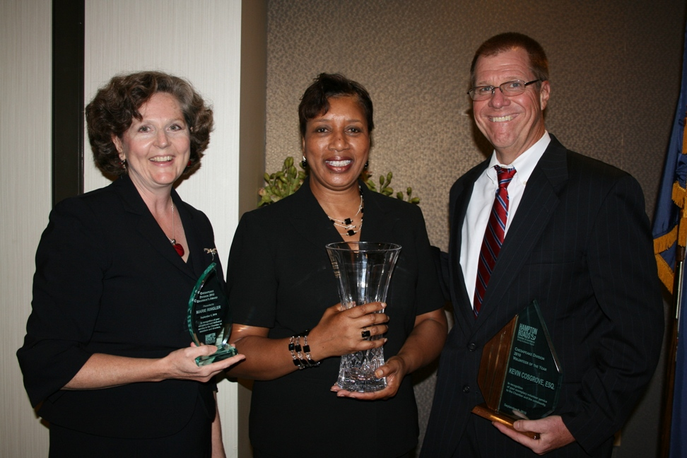 (from left) Marie Ringler, Faye Mitchell, and Kevin Cosgrove, Esq.