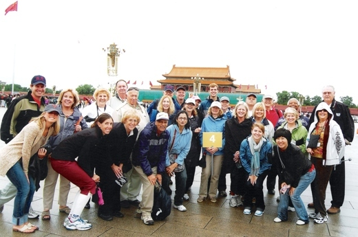 Travelers visited Tiananmen Square