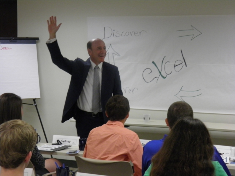 Dr. Carlos Campo spoke to the 2013 eXcel class