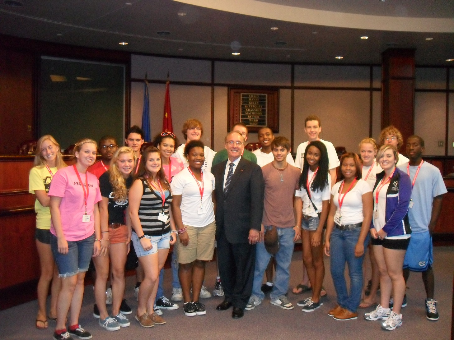 eXcel participants with Chesapeake Mayor Alan Krasnoff