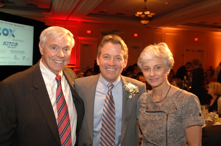 (from left) The Honorable Will Howell, Delegate Chris Jones, and his wife Karen Jones.  Photo courtesy of Kevin Schindler.