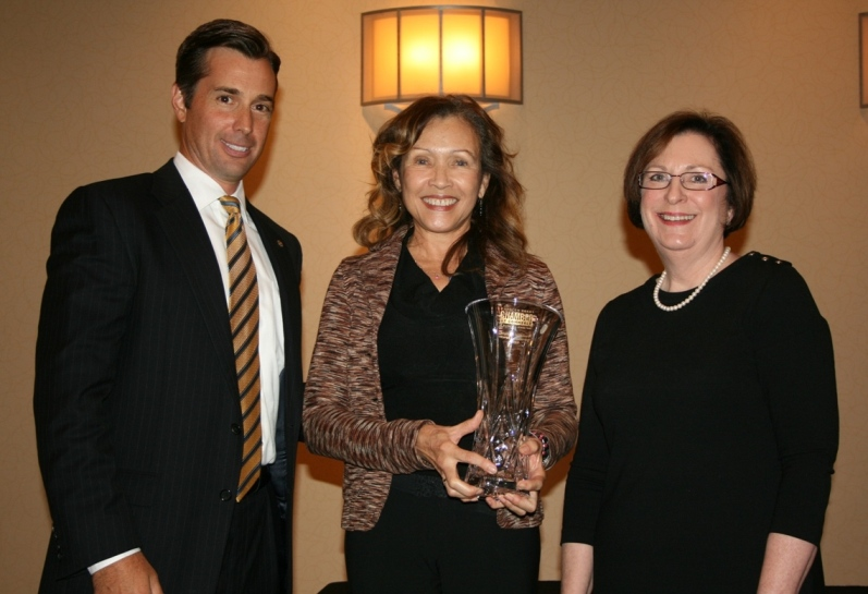 (from left) Patrick Reynolds, Chair of the Chamber's Chesapeake Division; Judith Scott; and Dr. Linda Rice, Provost of Tidewater Community College's Chesapeake Campus and 2011 Whitehurst Award winner