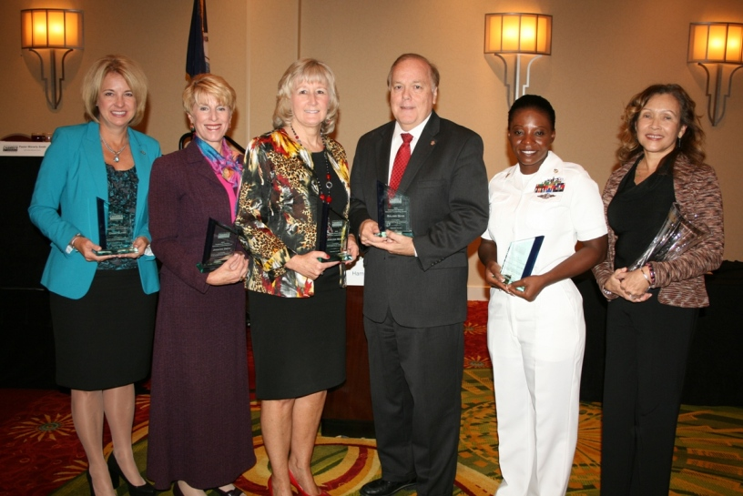 (from left) Dawn Glynn, Jennifer Smith, Darleen Mastin, Roland Davis, RPC Tracy Agyeman, and Judith Scott