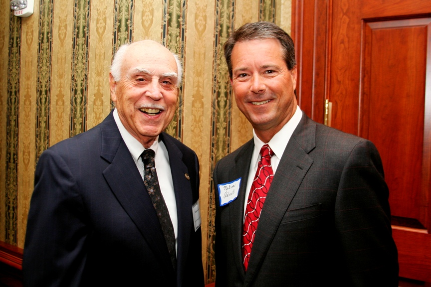 (from left) Delegate Bob Tata and Chamber Chair Nelson Adcock.  Photo courtesy of Miwa Design and Graphics