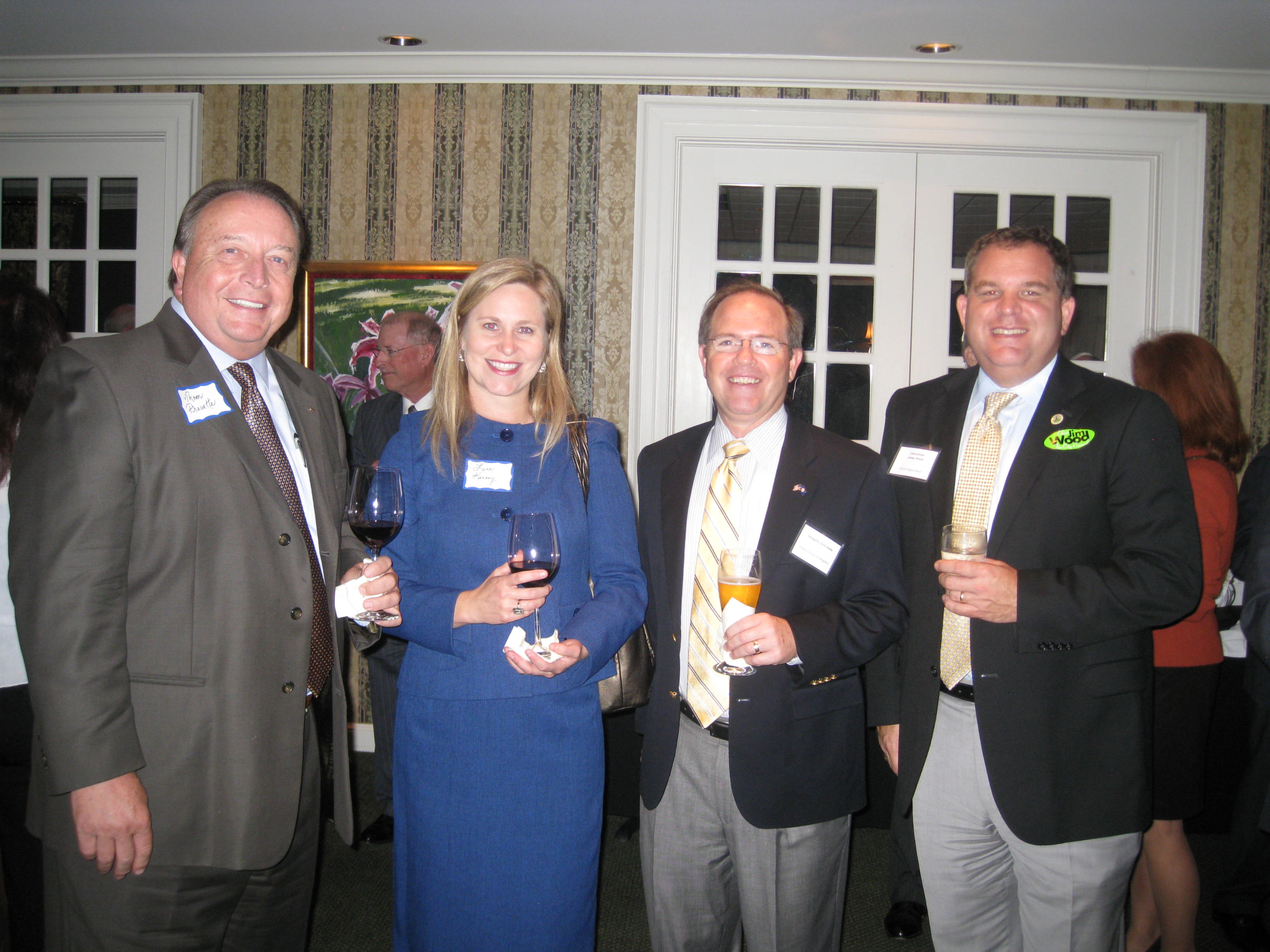 (from left) Thom Prevette and Lisa Kersey of Bon Secours Virginia Health System, Delegate Chris Stolle and Virginia Beach City Councilman Jim Wood