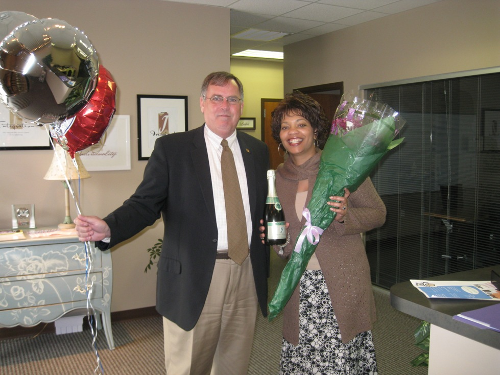 Angela Reddix of A. Reddix & Associates and Jim Carroll of the Chamber