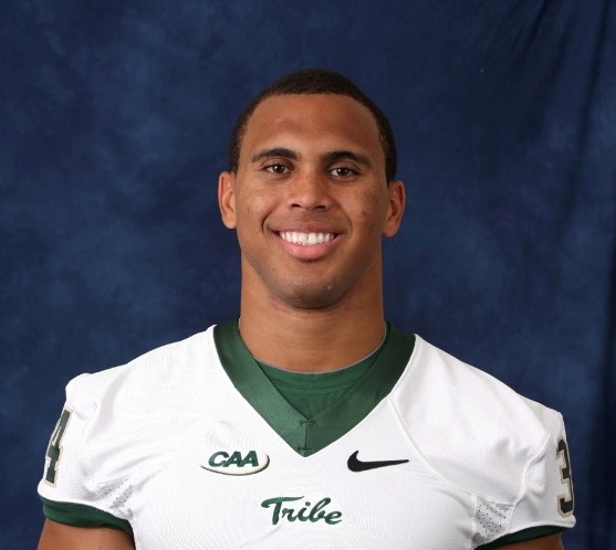 Jonathan Grimes of the College of William and Mary was named the Top Offensive Player