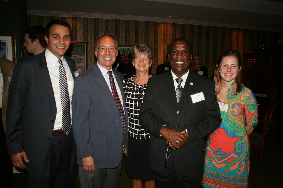 (from left) George Faatz, Manager of State and Local Government Affairs, Virginia Natural Gas; Chesapeake City Mayor Alan Krasnoff; Deborah Stearns (Harvey Lindsay), Chair, Hampton Roads Chamber of Commerce; Delegate Lionell Spruill; and Christen Faatz, representative for Senator Jeff McWaters