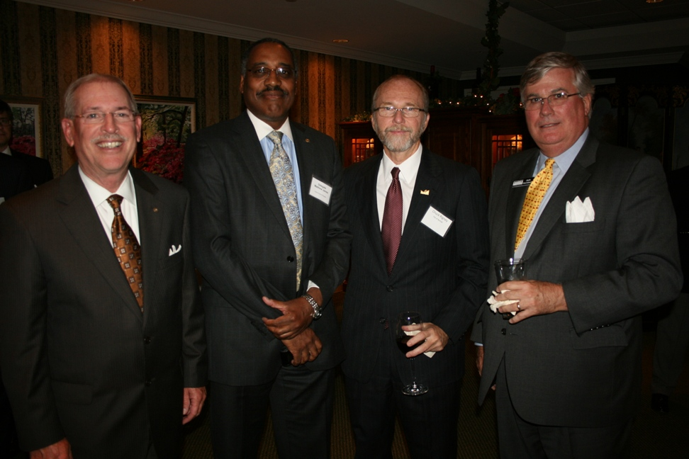 (from left) Max Bartholomew, Dominion Virginia Power; Delegate Matthew James; Chuck Rigney, City of Norfolk; and Jack Hornbeck, President & CEO of the Chamber