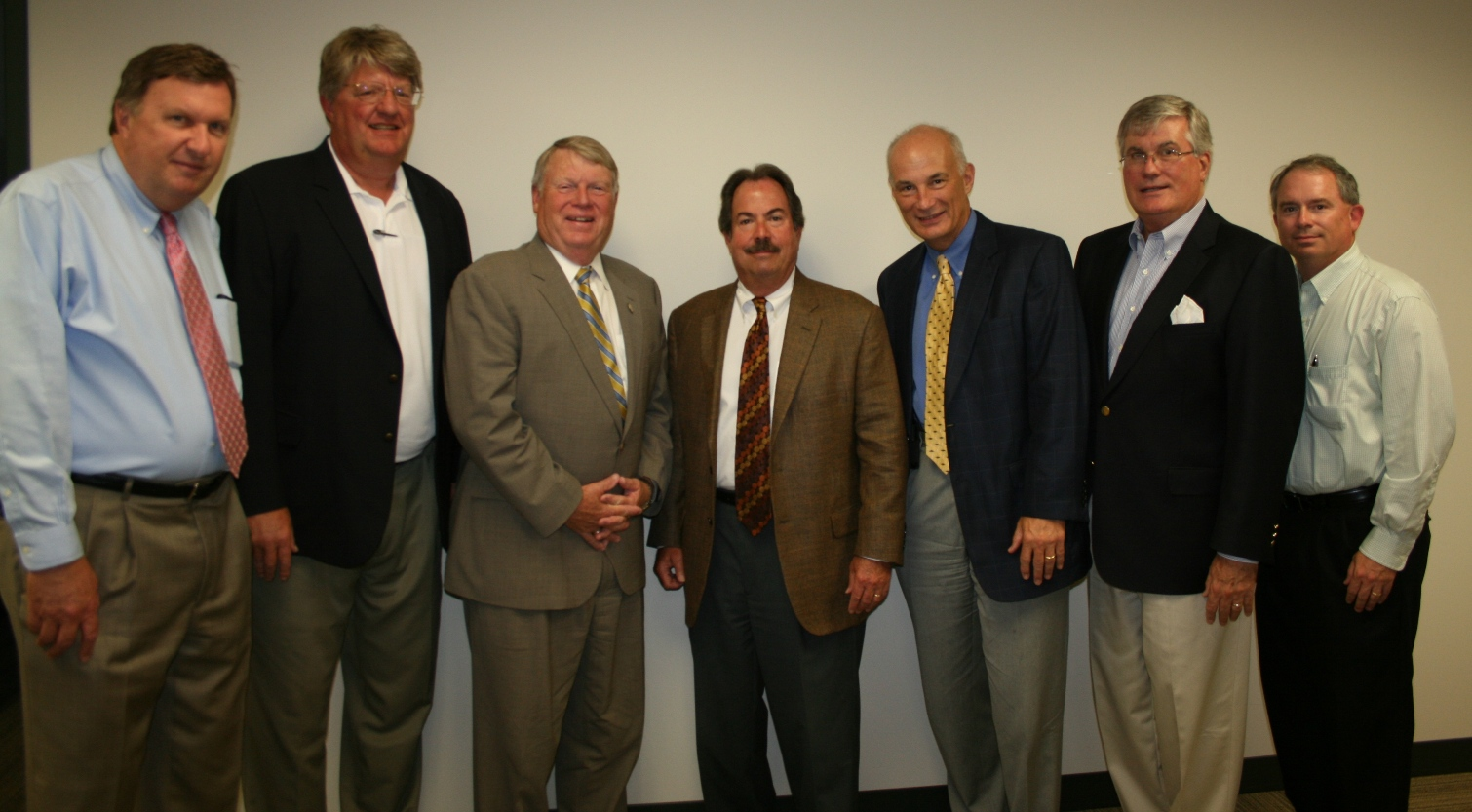 (pictured from left) Ira Agricola, Senior Vice President of the Chamber; Shep Miller, Chair of the HRBizPAC; Delegate Scott Lingamfelter; Tuck Bowie, Chair of the Chamber's Virginia Beach Division; Bill Holloran, former Vice Chair for Small Business; Jack Hornbeck, President & CEO of the Chamber; and Dean McClain, Municipal Affairs Director for the Chamber.