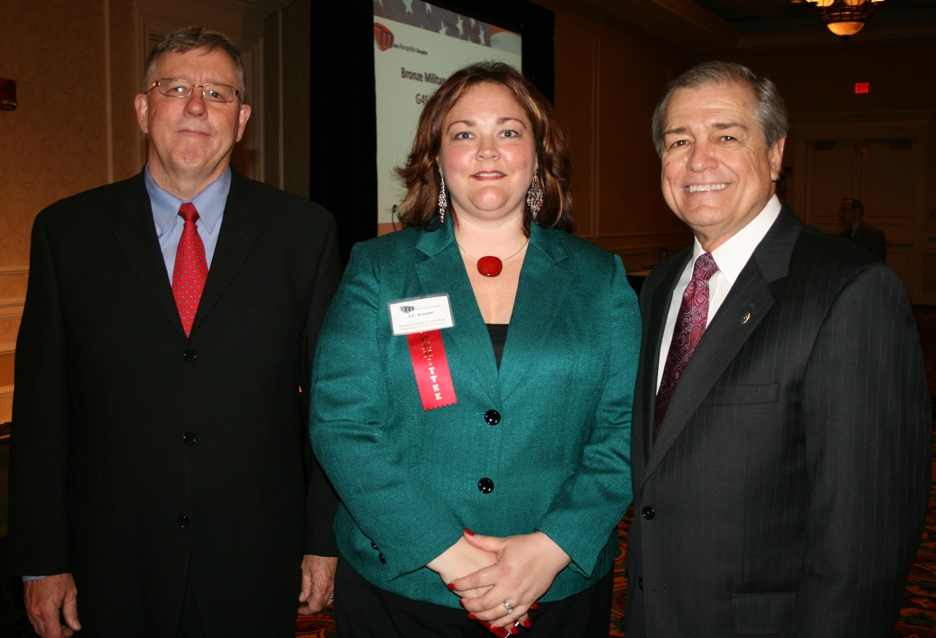 (from left) Dan Doyle, Omni Financial; JC Kreidel, Chair of the Chamber's Armed Forces Committee; and MCPON (ret) Jim Herdt