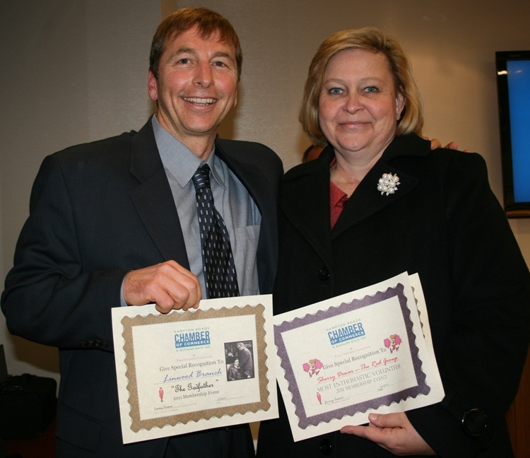 Award recipients Linwood Branch and Sherry Dewar