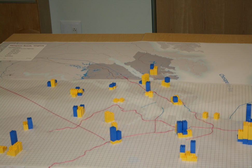 During the May 17 event, participants will use Lego and string to position future housing, job centers and transportation corridors
