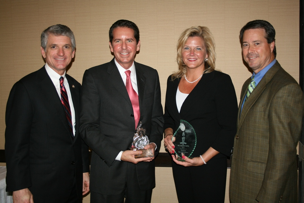 (from left) Congressman Scott Rigell; Dr. Stephen Scoper, Virginia Eye Consultants; Karen Spencer, Virginia Eye Consultants; and Nelson Adcock (GeoEnvironmental Resources, Inc), Chair of the Chamber