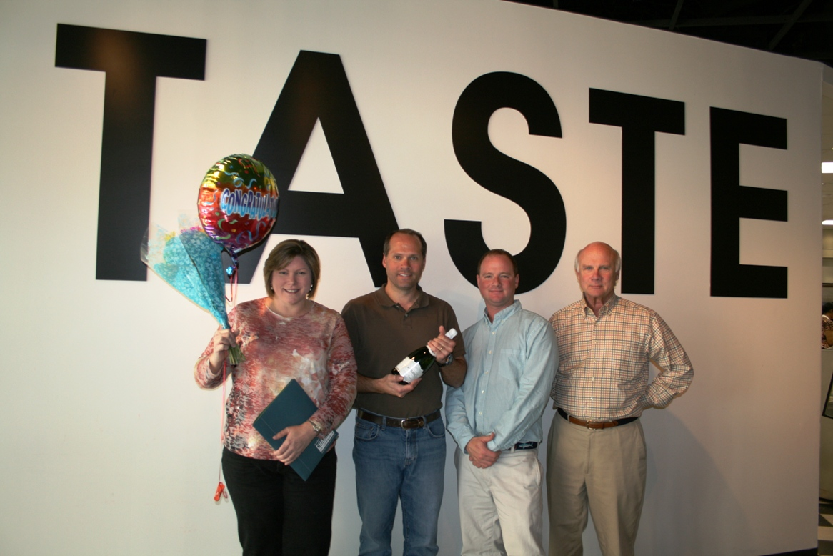 (from left) Amy Jordan, Jon Pruden, Taylor Pruden and Peter Pruden of TASTE
