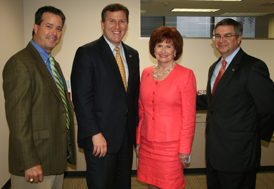 (from left) Nelson Adcock, (GeoEnvironmental Resources, Inc.), Chamber Chair; Secretary of Transportation Sean Connaughton; Dorcas Helfant-Browning, Coldwell Banker Professional Realtors; and David Durham (SunTrust Bank), Vice Chair, Governmental Affairs