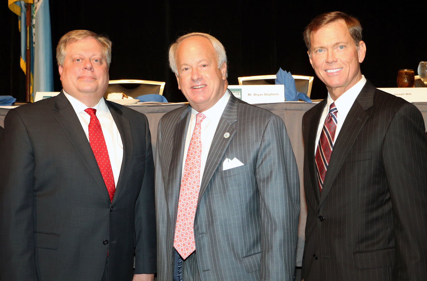 Glen Robertson, Chair, Hampton Roads Chamber of Commerce Virginia Beach Division; Mayor William D. Sessoms and Bryan K. Stephens, President & CEO, Hampton Roads Chamber of Commerce