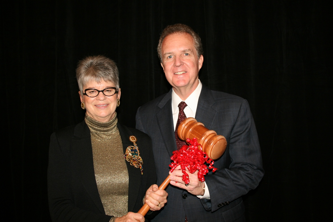 2012/2013 Chair Deborah Stearns hands gavel to 2014 Chair Michael Dudley