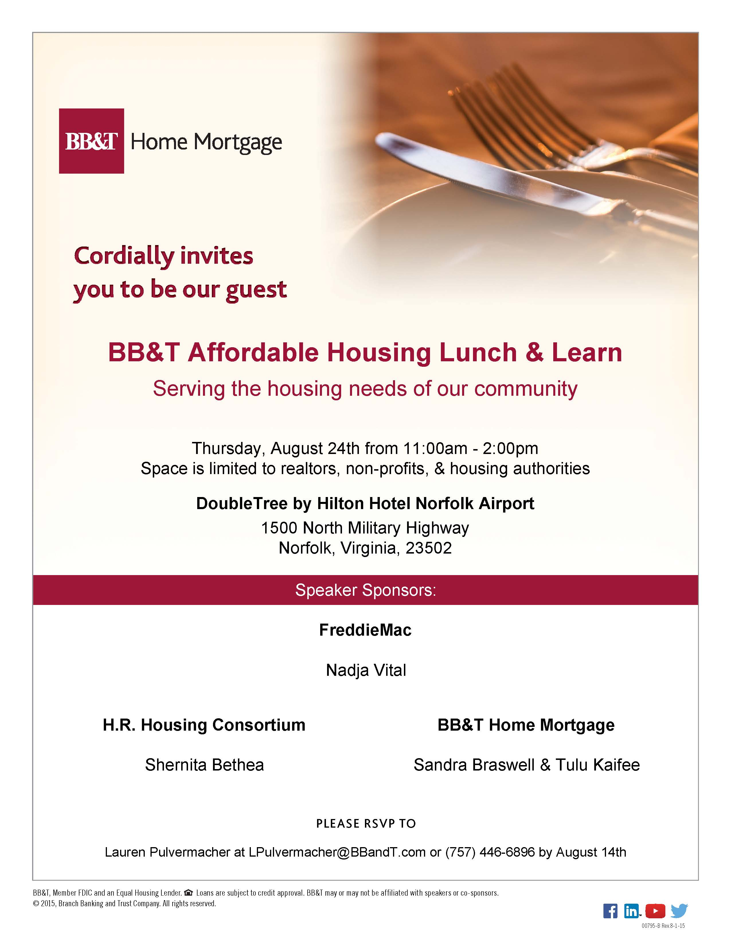 BB&T Affordable Housing Lunch & Learn | Member News | News
