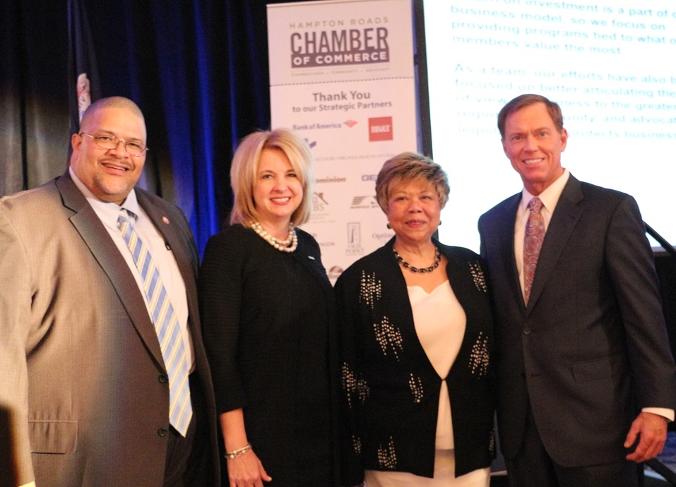 Portsmouth Mayor Kenneth Wright; Ms. Dawn Glynn, President, TowneBank; Ms. Lee Brazzell, Chair, Portsmouth Division of Hampton Roads Chamber and Mr. Bryan K. Stephens, President & CEO, Hampton Roads Chamber
