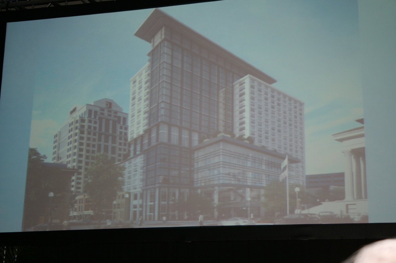Plans for new 23-story full-service Hotel and Conference Center on Main, Granby and Plume Streets
