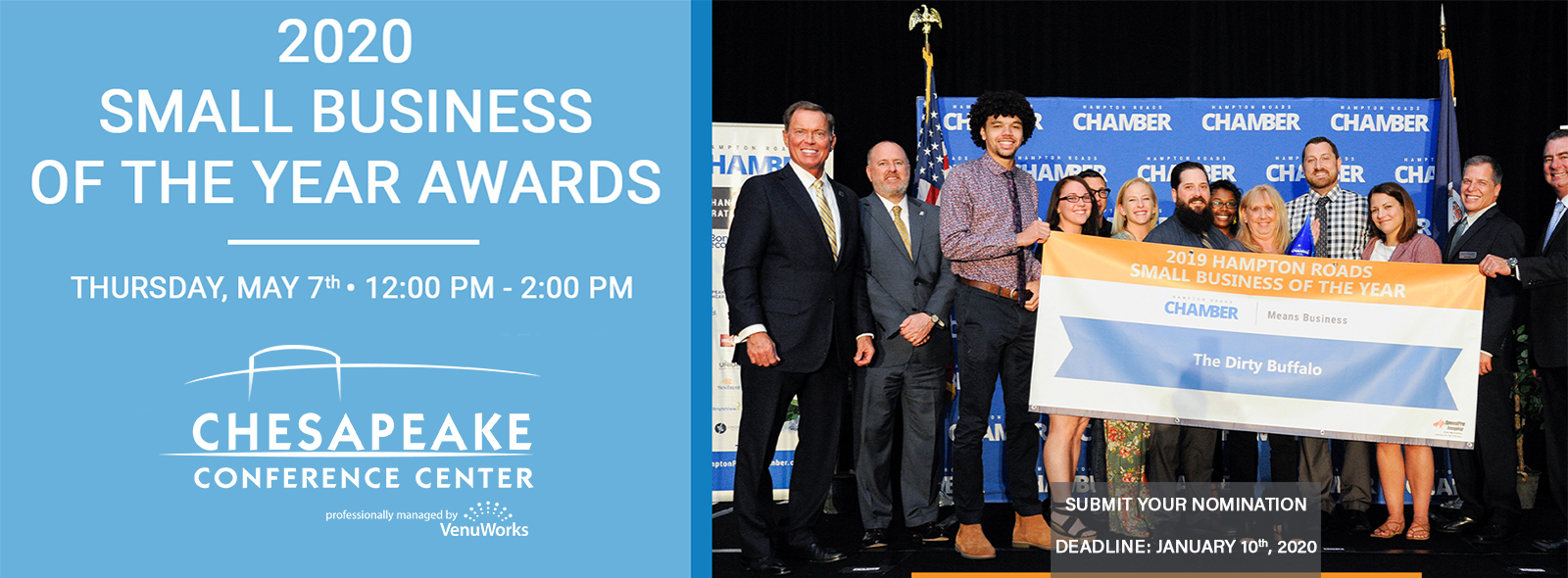 Now Accepting 2020 Small Business of the Year Nominations!